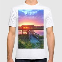 Litchfield Sunset Mens Fitted Tee Ash Grey SMALL