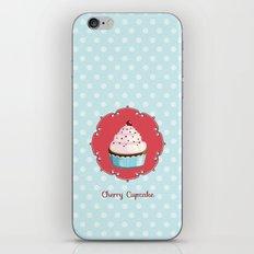 Cherry cupcake iPhone & iPod Skin