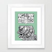 the man the monster Framed Art Print