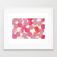 pink watercolour Framed Art Print