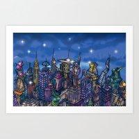 C2 & Posse (New-New York… Art Print