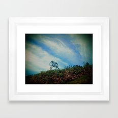 Tree,Cloud,Wind. Framed Art Print
