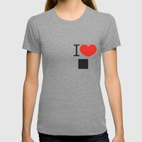 I LOVE PIXELS / PICTOGRA… Womens Fitted Tee Tri-Grey SMALL