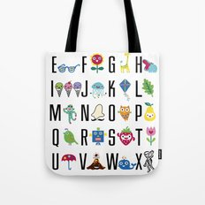 Alphabet Cute  Tote Bag