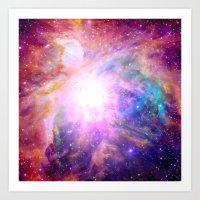 Galaxy Nebula Art Print