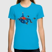 Itsa Me, Neo Womens Fitted Tee Teal SMALL