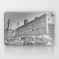 St Katherine's Dock London sketch Laptop & iPad Skin
