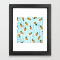 Pineapple Print Framed Art Print