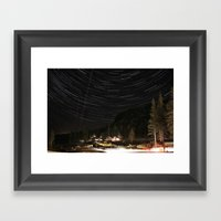 Kirkwood Night (star Tra… Framed Art Print