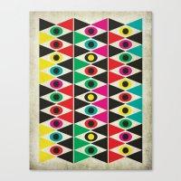 triangle pattern Canvas Print