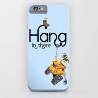 iPhone & iPod Case featuring Pixar/Disney Wall-e Hang in There by Teacuppiranha