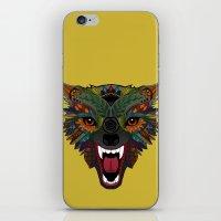 wolf fight flight ochre iPhone & iPod Skin