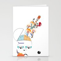 Art On The Brain Stationery Cards