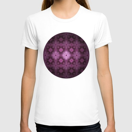 Pink Fractal Pattern T-shirt
