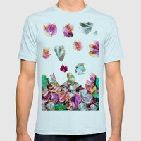 Autum Leaves Mens Fitted Tee Light Blue SMALL
