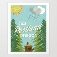 Portland Stumptown Art Print