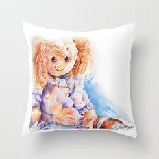 Raggedy Rosie ... Rag Doll Throw Pillow