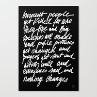 ABSOLUTELY NOTHING Canvas Print