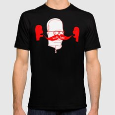 Documenting the Discovery of the Handlebar Mustache Mens Fitted Tee Black SMALL