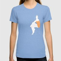 Sexy Woman Womens Fitted Tee Tri-Blue SMALL