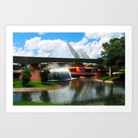 Epcot At Disney World Art Print
