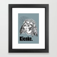 KIENKE BLUE. Framed Art Print
