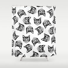Black Mollys Shower Curtain