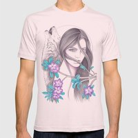 Desert Flower Mens Fitted Tee Light Pink SMALL