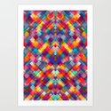 Squares Everywhere Art Print