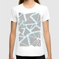 Ab Linear with Electric Womens Fitted Tee White SMALL