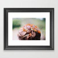Flowers In Your Hair Framed Art Print