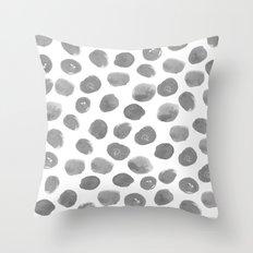 Grayson - Grey And White… Throw Pillow