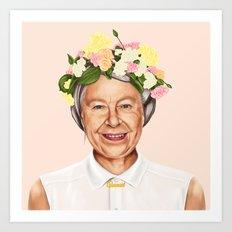 Hipstory - Queen Elizabe… Art Print
