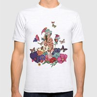 Color Splash Mens Fitted Tee Ash Grey SMALL