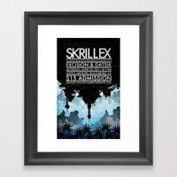 Skrillex Concert Poster Framed Art Print