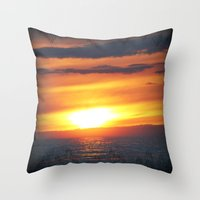 UP Sunset Throw Pillow