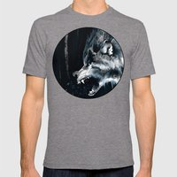 The Moon Is Full Again Mens Fitted Tee Tri-Grey SMALL