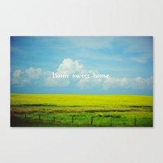 Alberta, Home Sweet Home Canvas Print
