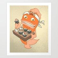 Sushi Fish 2 Art Print