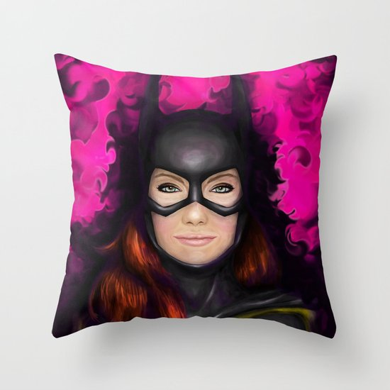 Bat of Stone Throw Pillow