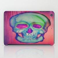 Watercolor skull/Blue iPad Case