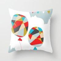 Celebrate Shapes  Throw Pillow