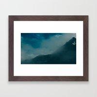 North Cascades Fog Framed Art Print