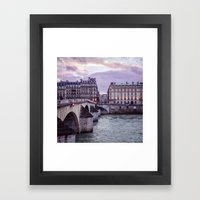 Le Pont Royal, Paris. Framed Art Print
