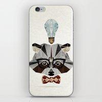 raccoon nerd iPhone & iPod Skin