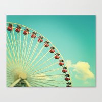 Summer At Navy Pier Canvas Print