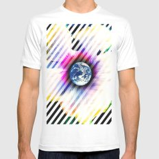 WORLD TURNS SMALL White Mens Fitted Tee