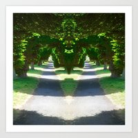 Two Paths Diverge Art Print