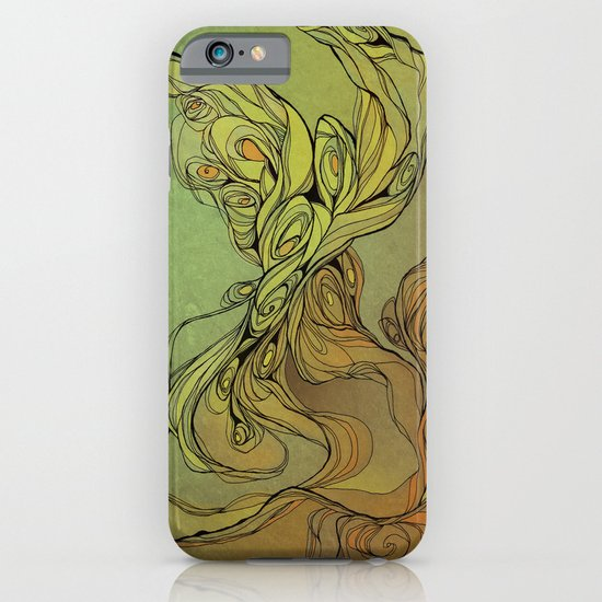 abstract floral composition iPhone & iPod Case