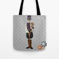 Steampunk Skeleton Tote Bag